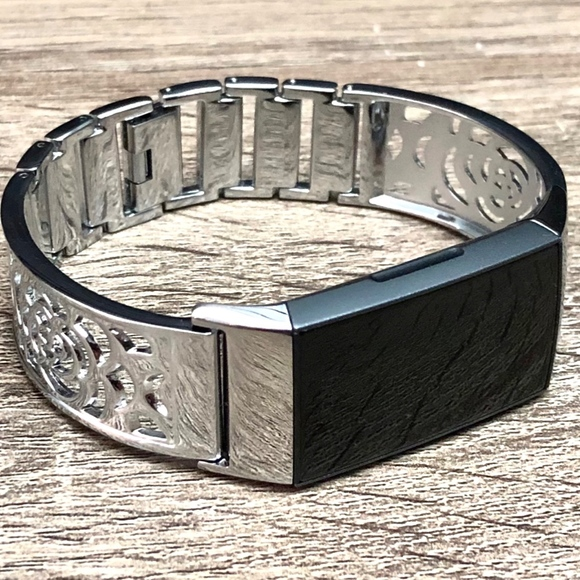 Fitbit CHARGE 3 Band Silver Fitbit Charge 3 Bangle Boutique